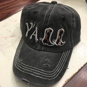Accessories - YALL embroidered hat gray distressed leopard boots 114c47f1ebe8
